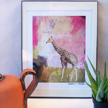 Abstract Giraffe Print