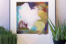 Abstract House Mixed Media Art Print