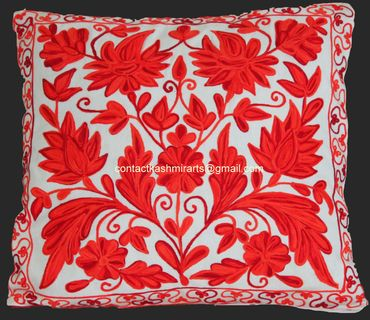 Throw Pillow Embroidered Red White Cushion Coverpillow Cover