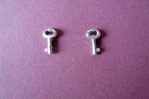 Antique Key Earring Studs Sterling Silver