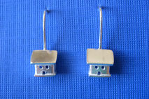 Sterling Silver Dangle Earrings Tiny Cottage