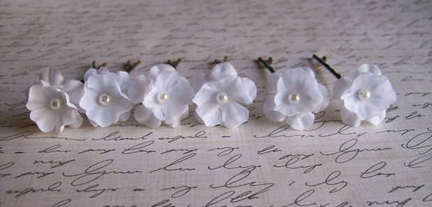 Wedding white small flower hair pins white bridal hair pins wedding white small flower hair pins white bridal hair pins mightylinksfo
