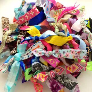 50 Wholesale Hair Ties Ponytail Holders by Elastic Hair Bandz - Elastic Hair  Bandz - PinkLion 1badec7f4bf