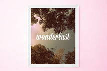 Wanderlust Forest Wall Art Print, 8x10.