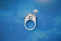 House Ring Sterling Silver