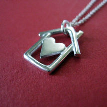 Home is Where the Heart Is Necklace Sterling Silver