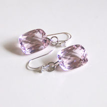 Gorgeous 29.77 ct Light Pink Topaz  Dangle Drop Earrings - Weddi