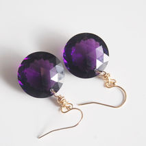 AAA Gem  40ct. Purple Amethyst  Dangle Drop Earrings-  Wedding J