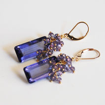 Gorgeous Iolite  Blue Quartz Briolette And Iolite Blue Quartz Ro