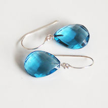 London Blue Quartz Earrings- Mother's Day Jewelry- Mother's Day