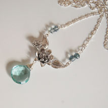 Wedding Jewelry- Bridal Jewelry-Sage Green Quartz and Mystic tea