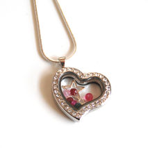 Floating Charm Locket- Memory Glass Locket- Mother's Day Locket-