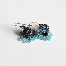 Chandelier Earrings - Apatite  Chandelier Earrings - Jhumka Earr
