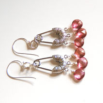 Pink Mystic  Quartz Chandelier Earrings- Dangle Drop Earrings