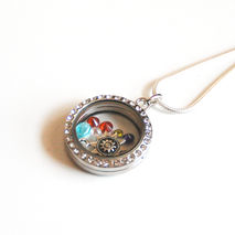 Memory Glass Locket-Floating Charm Locket- Mother's Day Locket-