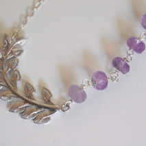 Wedding Jewelry- Bridal Jewelry-Gemstone Amethyst Necklace With