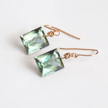 Green Amethyst Dangle Drop Earrings- Fine Jewelry-Wedding Jewelr