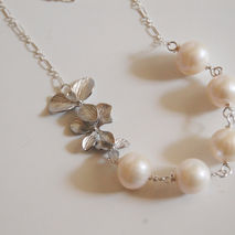 Wedding Jewelry- Bridal Jewelry-Fresh Water pearl and Triple Orc