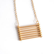 Bar Necklace- gold filled Necklace With Gold Plated Bar- Modern