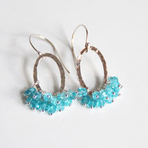 Apatite Hoop Earrings