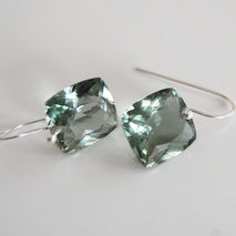Green Amethyst Dangle Drop Earrings