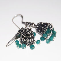 Chandelier Earrings -  Emerald Chandelier Earrings - Jhumka Earr