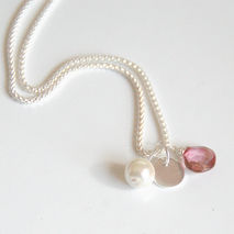 Mystic Pink Quartz Pendant Necklace