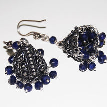 Chandelier Earrings - Sapphire Chandelier Earrings -Blue Earring