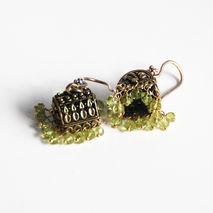 Chandelier Earrings - Peridot Chandelier Earrings - Jhumka Earri
