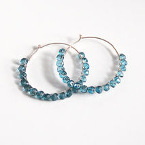 Mystic London Blue Topaz Hoop Earrings