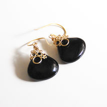 Black Onyx  Dangle Drop Earrings