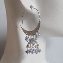 Gorgeous Sparking Light Purple  Quartz Chandelier earrings