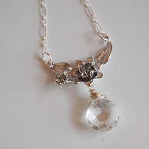 Wedding Necklace- Wedding Jewelry- Bridal Jewelry-Crystal  Quart