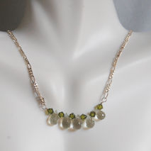 AAA grade green amethyst drop necklace