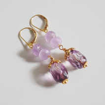 Gorgeous Amethyst  Dangle Earrings
