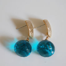 London blue quartz dangle Drop earrings