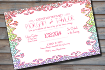 Rainbow Stained Glass Wedding Invitation Digital File
