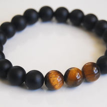 Men's Bracelets -Father's Day Bracelet- Men's Tiger Eye  -Matte
