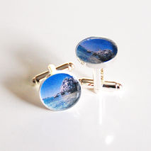 Men's cufflinks- Cufflinks- Men's Accessoeries- Photo Cufflinks-
