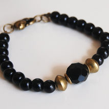 Men's Bracelets - Father's Day  Men's Jewelry - Men's Black  Bra