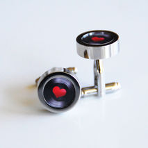 Cufflinks- Men's Cuff links - Men's jewelry-- Photo Cuff Links-