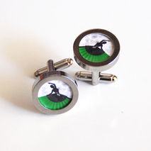 Cufflinks- Men's Cuff links - Flemenco Dancer Cufflinks-- Photo