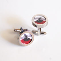 Cufflinks- Men's Cuff links -Red Flemenco Dancer Cufflinks-- Pho