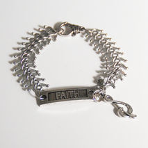 Men's Bracelet - Men's Jewelry - Men's Antique Silver Fish Bone