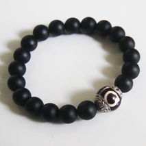 Men's Bracelets - Men's Jewelry - Men's Matte black Onyx and Tib