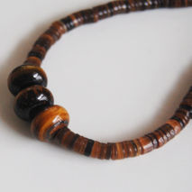 Men's Necklace- Men's Jewelry - Men's  Penshell bead  Necklace -