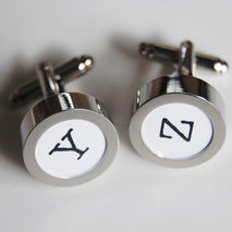 Men's personalized Cuff links - Photo Cuff Links-Initial Cuff Li