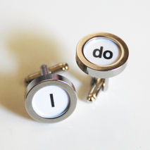 Men's Cuff links - Men's jewelry-- 'I  Do ' Cufflinks-Photo Cuff
