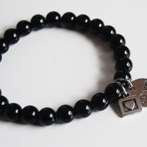 Men's Bracelets - Men's Jewelry - Men's black onyx Bracelets- Be