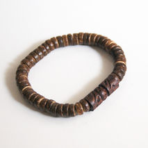 Men's Bracelet- Men's Jewelry - Men's Coconut Shell And wood Bea